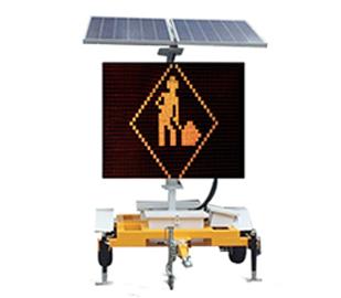 VMS太阳能牵引式LED显示屏车