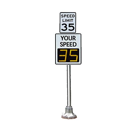 Pole-Mount Radar-Speed Signs
