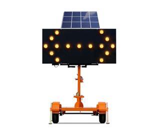 Solar arrow plate trailer
