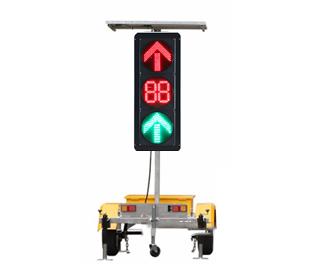 Traction solar arrow countdown traffic lights
