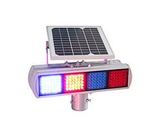 太阳能塑料爆闪灯(四格双面)