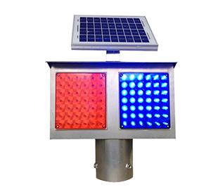 太阳能铁皮爆闪灯(2格单、双面)